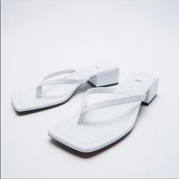 Zara Square toe sandals